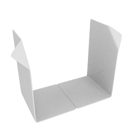 Corner Bookends, White