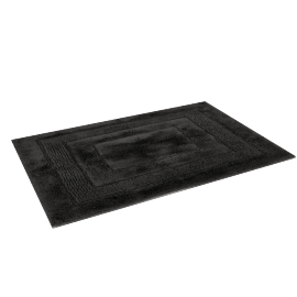 Aristocrat Plush Bathmat - 60x90 cms, Black