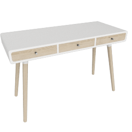 Edelweiss desk, ash/white