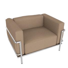 Outdoor LC3 Grand Modele Armchair - Plein Air Fabric - Sand