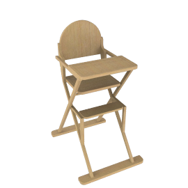 East Coast Folding Wood Highchair