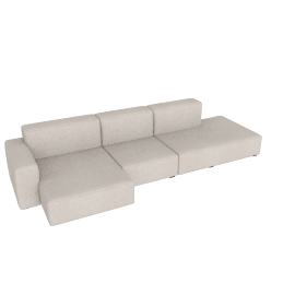 Mags Soft Low Wide Sectional with Left Chaise, Maharam Mode - 009 Clavicle