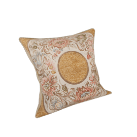 Majolika Square Filled Cushion - 56x56 cms