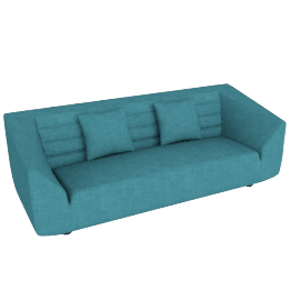 Octagon 3-seater Sofa