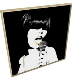 Glam Rock II by KelliEllis - 54''x54'', Gold