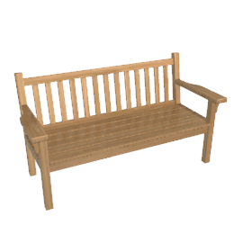 Barlow Tyrie London Teak Garden Bench