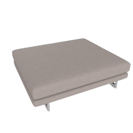 Lecco Platform, Kalahari Leather - Grey with Aluminum Base