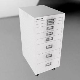 Bisley Non-Locking Under Desk Mutidrawer
