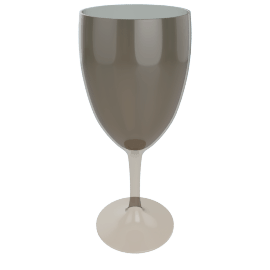 Acrylic Wine Glass, Peat