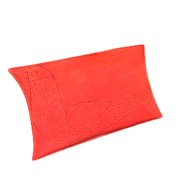 Becky Bird Cushion, Orange