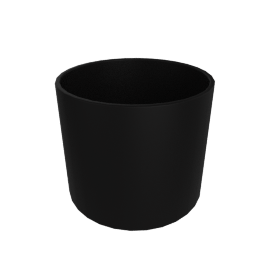 Monstruosus Planter, Model 1 Medium, Black