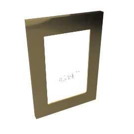 Lacquered Photo Frame, 4x6, Gold
