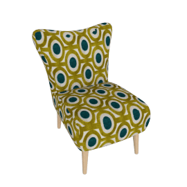 Peacock Arte Chair, Cobalt and Meadow Green Velvet