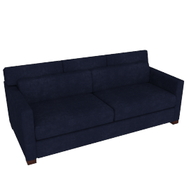 Vesper Queen Sleeper Sofa, Lama Tweed Fabric, Indigo