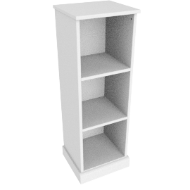 Charlie 3 Box Storage, White
