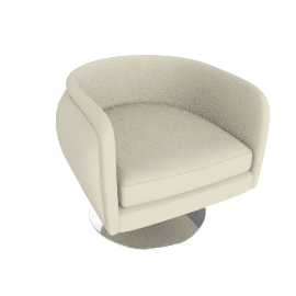 D'Urso Swivel Lounge, Pearl