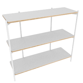 Mino low shelving unit, white