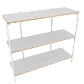 Mino low shelving unit, white
