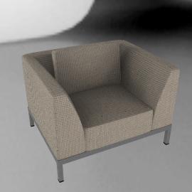 Angle Lounge Armchair - Taupe