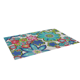 Geo leaf Printed Rug -160x230 cms