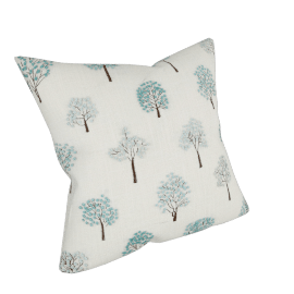 Mini Trees Cushion, Duck Egg