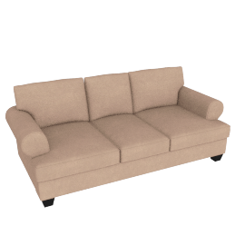 Brooke 3 Seater Light Brown