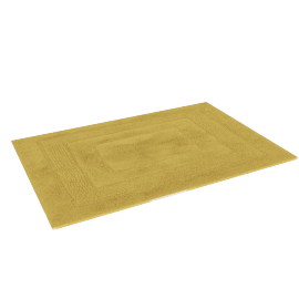 Aristocrat Plush Bathmat - 60x90 cms, Yellow