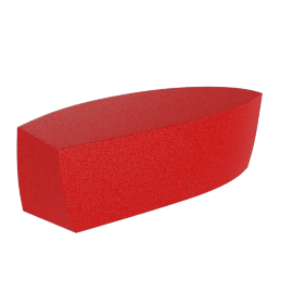 Frank Gehry Bench, Red