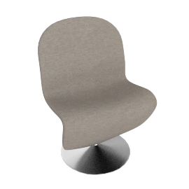 System 1 2 3 Dining Chair by Verpan in Fabric A - Warm.Gray