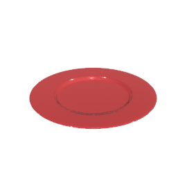 Acrylic Side Plates, Red