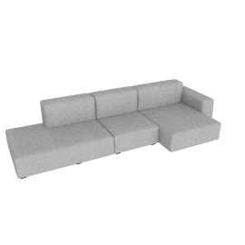 Mags Soft Low Wide Sectional with Right Chaise, Remix 0123 light grey