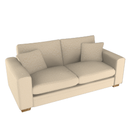 Umbria Large Sofa, Cocoa