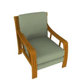 Lotus Cane Chair