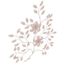 Golden Bush Wall Decor - 76x4.5x87 cms