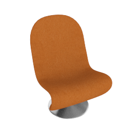 System 1 2 3 Lounge Chair by Verpan in Fabric B - Orange