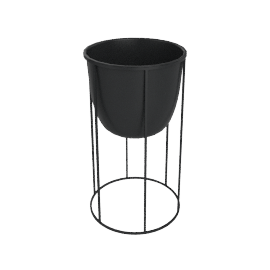 Wire Planter Medium, Black