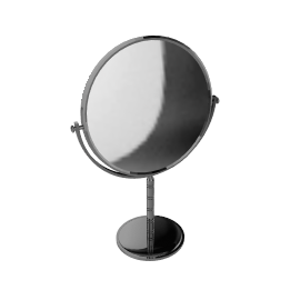 Chrome Stand Mirror