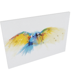 Neon Bird Handmade Oil Painting - 100x3.5x70 cms
