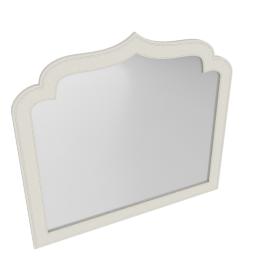 Taj Dresser Mirror-Pearl Bge/Ant.Silver