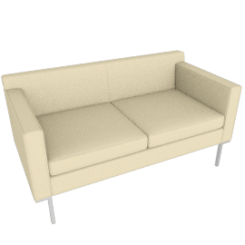 Theatre Two Seater, Ducale Wool, Ivory