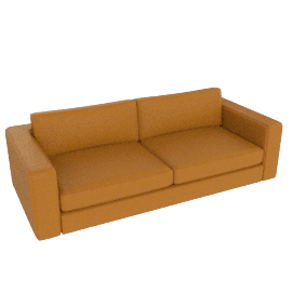 "Reid 86"" Sofa in leather, nude"