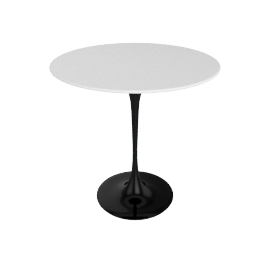 Saarinen Side Table - Laminate - Black.White