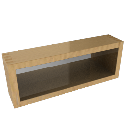 White Oak Mirrored Shelf