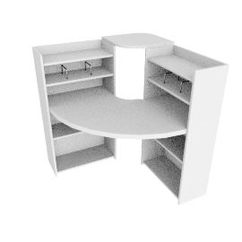 Zip Gamestation Corner Desk, White