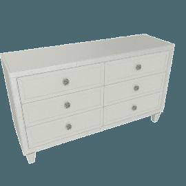 Mono Suzani 6-Drawer Dresser