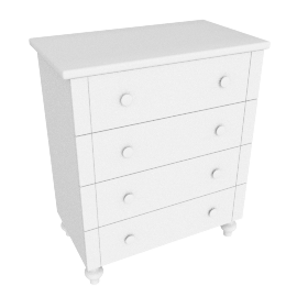 Arabella Chest of Drawers, White