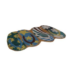 Flip Flop Doormat - 50x80 cms, Multicolour