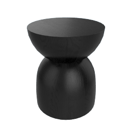 Hew Side Table, Shape B, Black Painted Ash