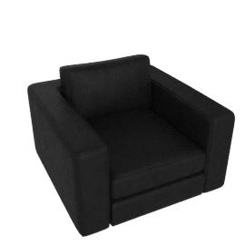 Reid Swivel Armchair in leather, ebony