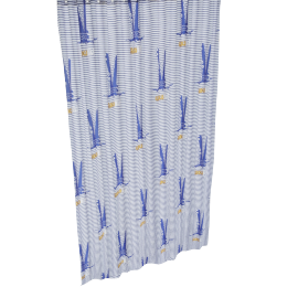 Happy Crocodile Printed Shower Curtain - 240x180 cms